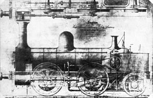 Cape Town Railway & Dock 0-4-2 - Works drawing, without tender