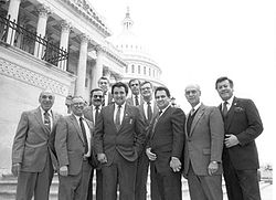 Congressional Hispanic Caucus members in 1984.