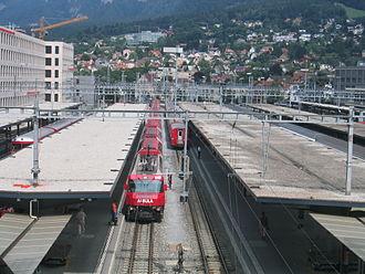 Chur railway station - Trains at Chur station.