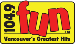 "CKKS-FM - CFUN-FM's logo under previous ""Fun FM"" classic hits format from 2009-2011"