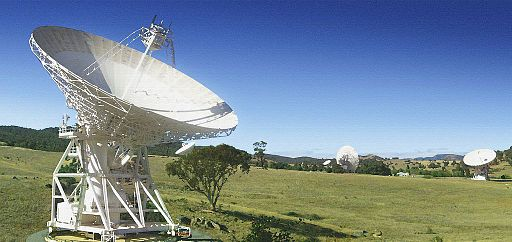 CSIRO ScienceImage 11482 An artists impression of one of the two new antennas to be constructed at the Canberra Deep Space Communications Complex CDSCC