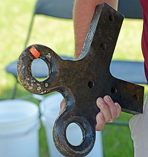CSS Georgia (ironclad) - Image: CSS Georgia brass artifact