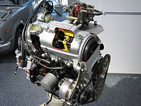 I photo a CVCC engine in the Honda collection ...