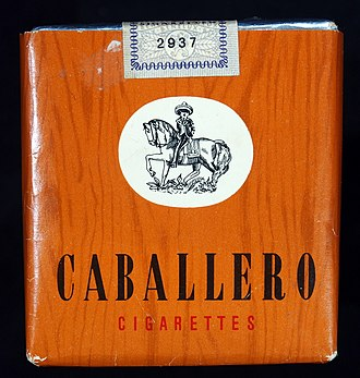 Caballero (cigarette) - An old Dutch pack of Caballero cigarettes