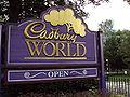 Cadbury World sign, Bournville.JPG