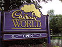 Cadbury World sign, Bournville.JPG