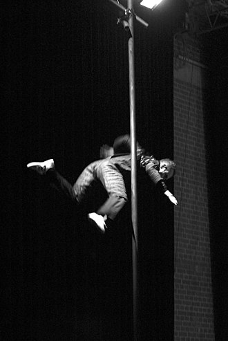 Chinese pole - Paolo Locci, an Italian Circus Artist on Chinese Pole.
