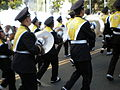 Cal Band en route to Memorial Stadium for 2008 Big Game 18.JPG