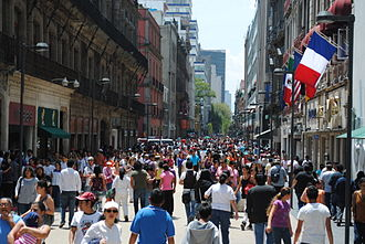 Mexican Stock Exchange - Madero Avenue, home of the first stock exchange in Mexico, is today a pedestrian mall.