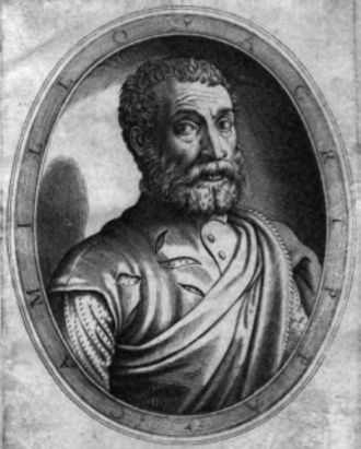 Camillo Agrippa - Camillo Agrippa's portrait, found on his Treatise.