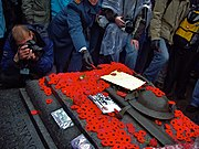 Canadian Tomb of the Unknown Soldier with poppies