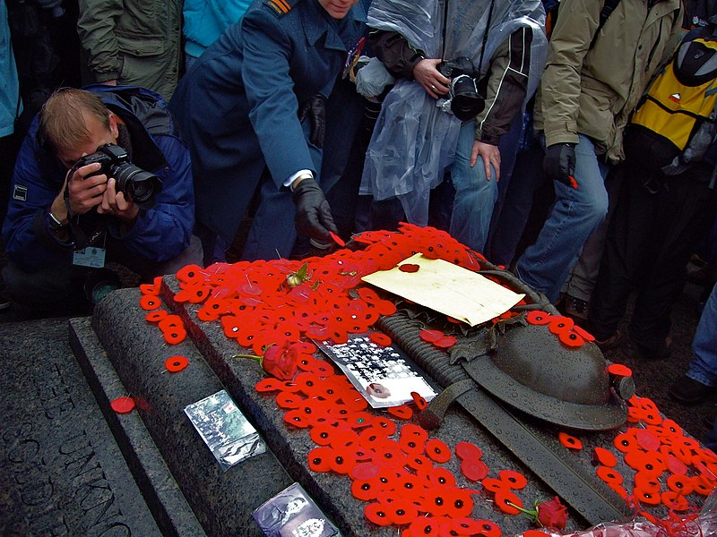 Image:Canadian Tomb of the Unknown Soldier with poppies.jpg
