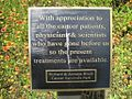 Cancer Survivors Park Memphis TN 15 plaque.jpg