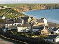 Canol pentref Aberdaron. The centre of the village of Aberdaron - geograph.org.uk - 604121.jpg