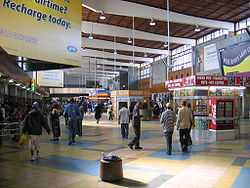 The interior of Cape Town Railway Station