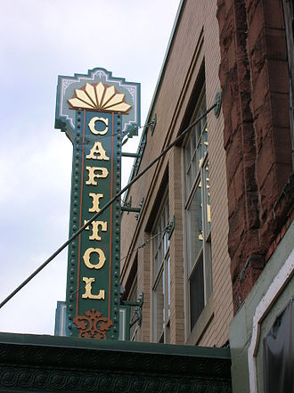 The Capitol Theatre in Moncton hosts the productions of the Atlantic Ballet Theatre of Canada and Theatre New Brunswick. Capitolmoncton.jpg
