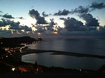 Capo d'Orlando - view of the harbour from Scafa.JPG