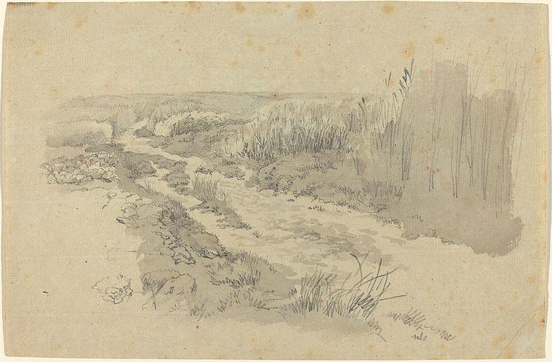 File:Carl Gustav Carus - Ein Feldweg bei Leipzig (ca.1812).jpg