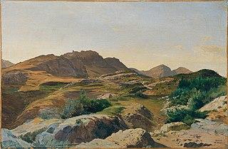 Landschaft im Sabinergebirge