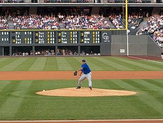 Carlos Zambrano - Zambrano at Coors Field in 2004.