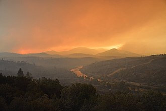 Carr Fire - The Carr Fire on July 28, 2018