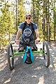 Carrying bear spray on an off-road wheelchair (43782959614).jpg