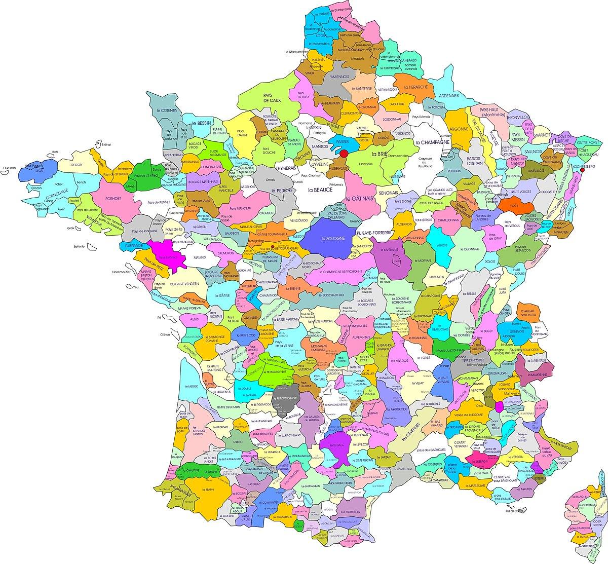 File Carte Des Regions Naturelles De France Jpg Wikimedia Commons