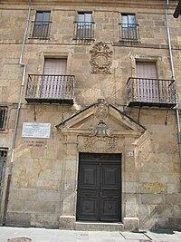 Casa del Regidor Ovaile Prieto Miguel de Unamuno Salamanca.JPG