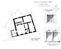 Castello dei signori d'avise, pianta, lug 1936, fig 200, disegno nigra.tiff