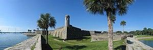 English: Panorama of the Castillo de San Marco...