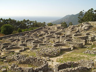 Gallaeci - Partial view of the Castro de Santa Tegra, an oppidum from the 2nd century BC.