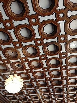 Merchants Exchange Building (San Francisco) - Ceiling at Julia Morgan ballroom