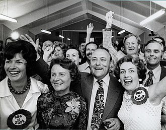 1975 New Zealand general election - Celebrating on election night