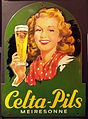 Celta-Pils Meiresonne enamel advertising sign.JPG