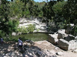 Sacred Cenote - The Sacred Cenote at Chichen Itza.