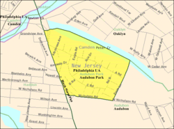 Census Bureau map of Audubon Park, New Jersey