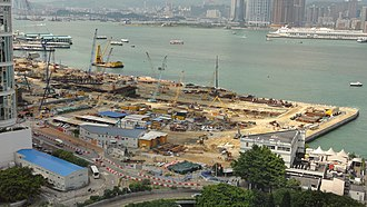 Central–Wan Chai Bypass - Image: Central–Wan Chai Bypass construction Admiralty section