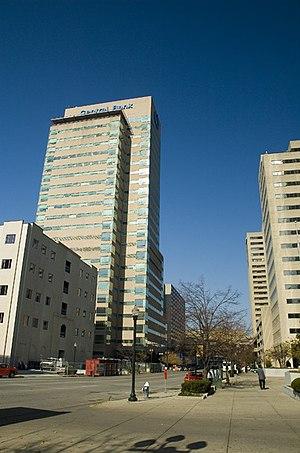 Cityscape of Lexington, Kentucky - Kincaid Towers along Vine Street.