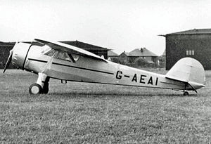 Cessna - A Cessna C-34 at Blackpool (Squires Gate) Airport in 1950