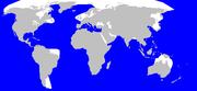 Wilayah penyebaran Paus Sperma (diwarnai biru)