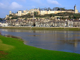 The Château de Chinon, and the Vienne river