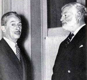 Charles Ritz - Charles Ritz (left) with Ernest Hemingway on receiving a prize from the Fario Club