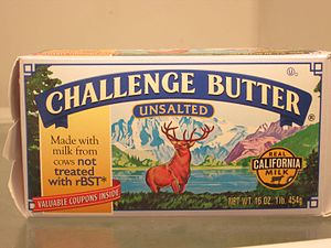 The Monarch of the Glen (painting) - Challenge Butter carton logo