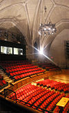 Pitt Rep's largest performance space, the 478-seat Charity Randall Theatre in the Stephen Foster Memorial