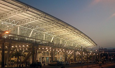 Chennai International Airport, one of India's major international airports Chennai airport view 4.jpeg