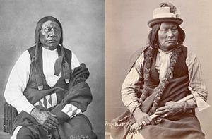 Wagluhe - Chief Blue Horse, left, and Chief Big Mouth, Wágluȟe Band, Oglala Lakota. Twin sons of Old Chief Smoke.