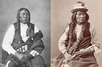 Wagluhe - Chief Blue Horse, left, and Chief Big Mouth, Wágluȟe Band, Oglala Lakota. Twin sons of Old Chief Smoke.