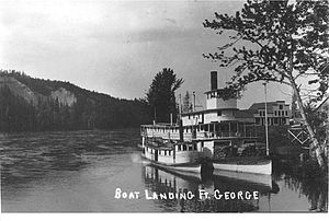 Chilcotin (sternwheeler) - Chilcotin and Fort Fraser at South Fort George