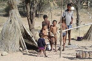 Central Kalahari Game Reserve - Image: Children of the Kalahari
