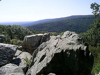 English: This is the Chimney Rock Vista at Cat...
